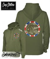 030 EMBROIDERED CARP HOODIE